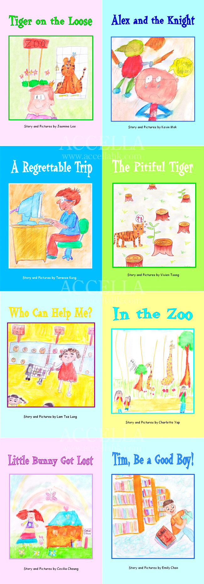 Some of the storybooks produced by students in our Little Writers classes this summer.