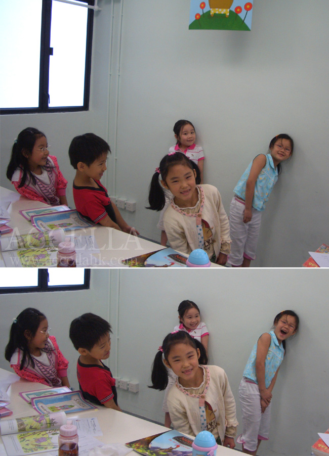 The students in our Sunday P2 class play the part of the flowers and trees in the original Shrek book written by William Steig.