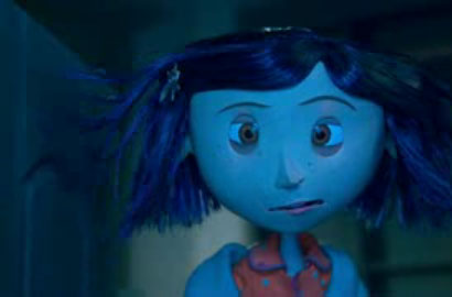 Screen capture from a Coraline featurette available on YouTube.  Pictured: Coraline Jones.