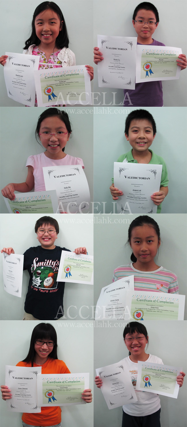 Accella's 2009-2010 valedictorians!