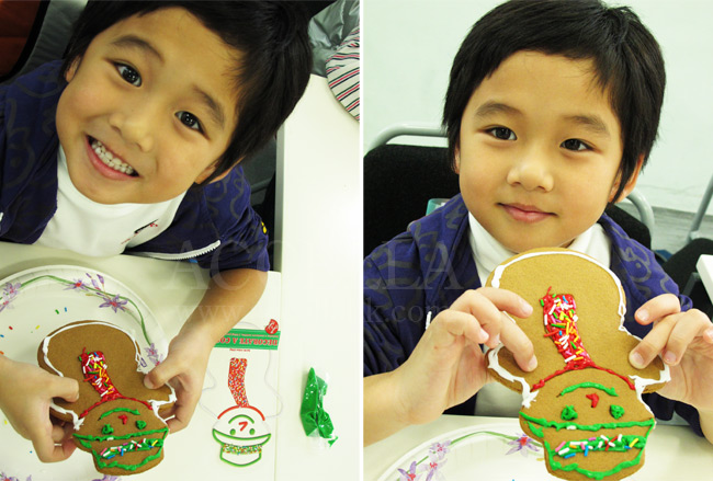 HarrisY with his handsomely decorated gingerbread man.