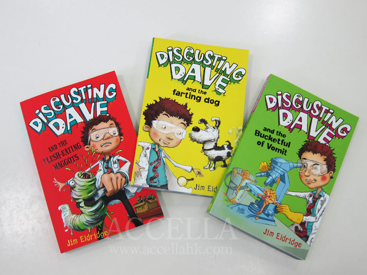 The three 'Disgusting Dave' books that have been published so far.